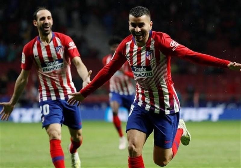 اتلتیکومادرید با پیروزی دیرهنگام قهرمانی بارسلونا را به تعویق انداخت