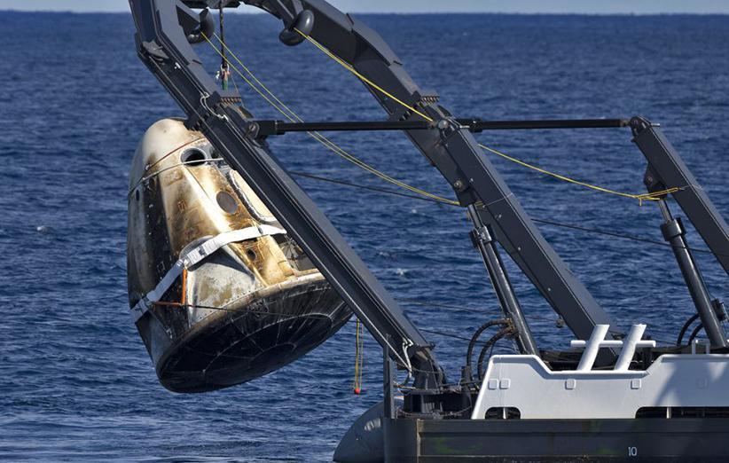 فضاپیمای دراگون سرنشین دار در حادثه اخیر نابود شده است