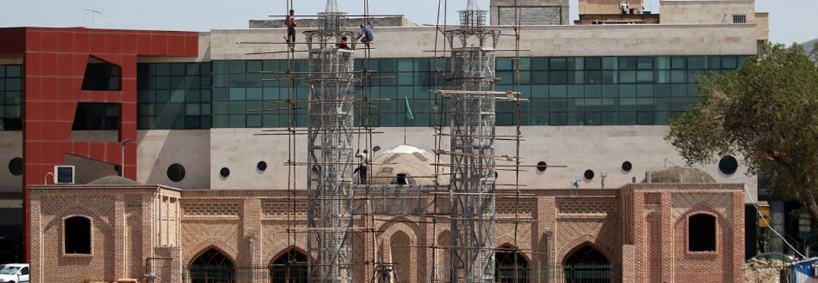 ساخت دو مناره جدید در مسجد تاریخی کریم خان ، واکنش میراث فرهنگی تبریز: از ما مجوز ندارند!