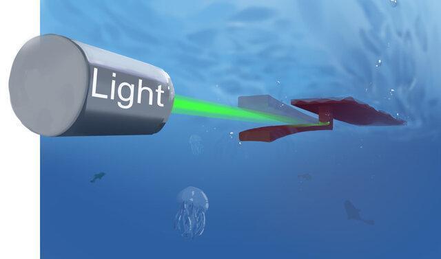 ساخت ربات شناگر با نوعی هیدروژل