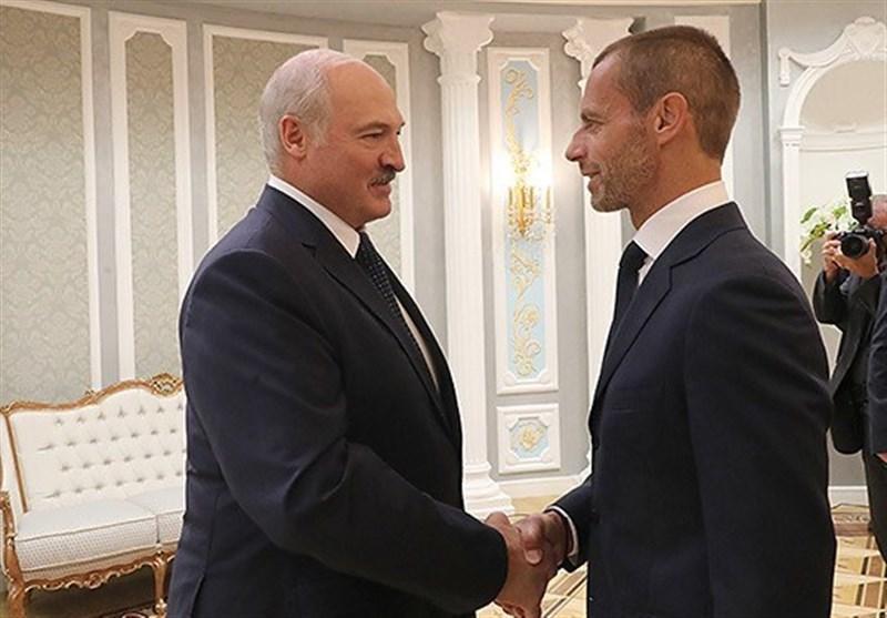 دیدار رئیس یوفا با رئیس جمهور بلاروس در مینسک