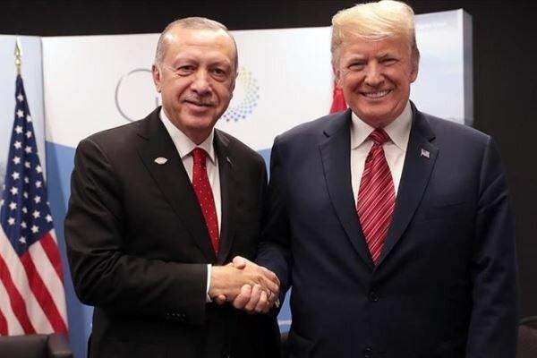روابط دوجانبه و مسائل منطقه ای محور گفتگوی تلفنی ترامپ و اردوغان