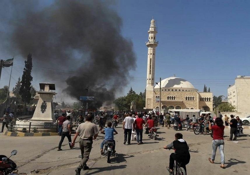 شنیده شدن صدای انفجار در جرابلس سوریه