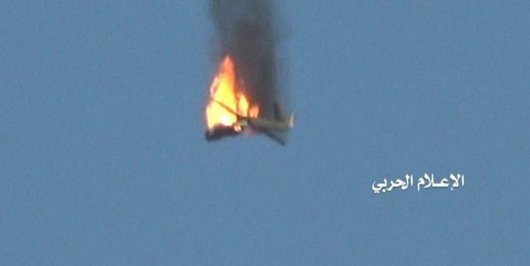 پدافند موشکی یمن یک فروند هواپیمای مهاجم ائتلاف سعودی را ساقط کرد