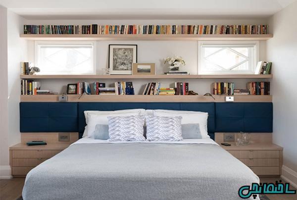 ایده های طراحی فضای پشت تخت خواب