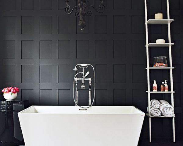 استفاده از رنگ های سیاه و سفید در طراحی حمام