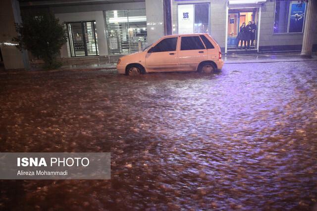 فعالیت موج بارشی شدید در خوزستان در 6 ساعت