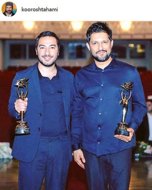 تبریک هنرمندان به نوید محمدزاده و حامد بهداد